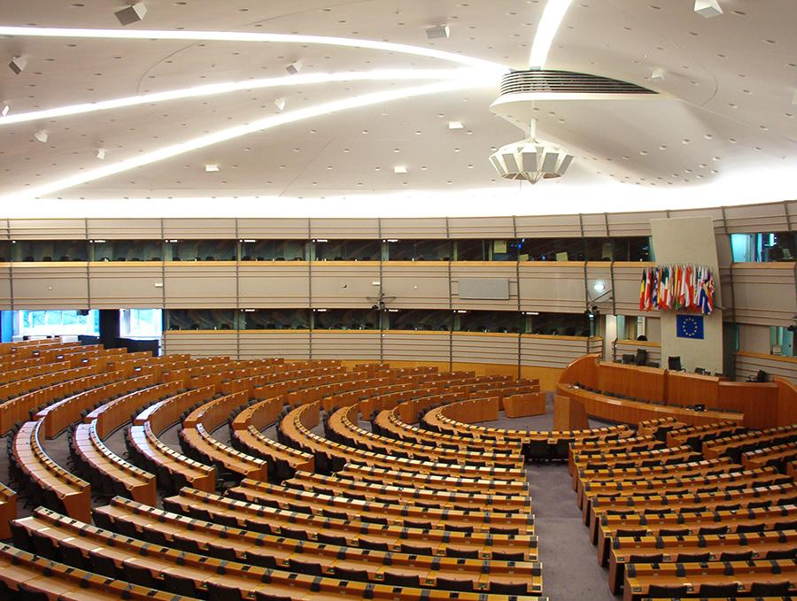 Fotografia do Parlamento Europeu para ilustrar os conteúdos Política PAN na Europa (UE).