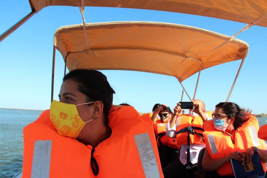 Viagem de barco em Vila Franca de Xira com Inês de Sousa Real